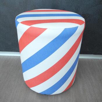Lattanzi beauty design - Vittorio Tondo pouf personalizzabile in ecopelle personalizzabile