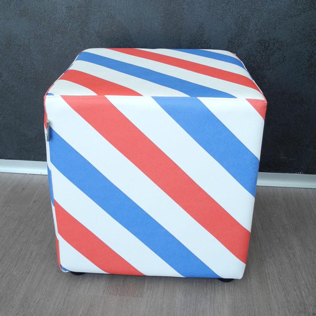 Lattanzi beauty design - pouf personalizzabile in ecopelle personalizzabile