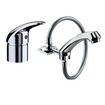 Ricambi lavabo parrucchiere Gruppo Rubinetteria con acquastop