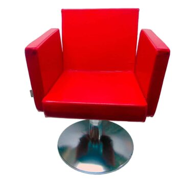 Poltrona parrucchiere unisex agv rossa ricondizionata