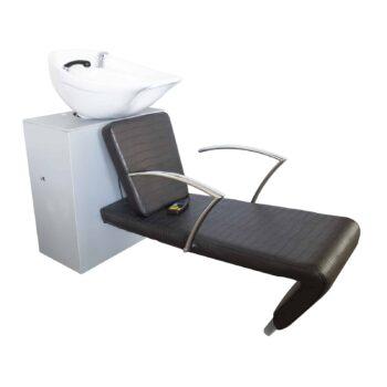 Poltrona lavatesta professionale per parrucchiere chaise longue